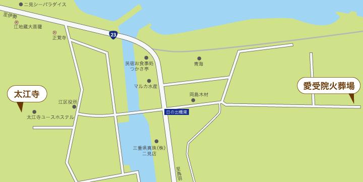 太江寺の火葬場地図