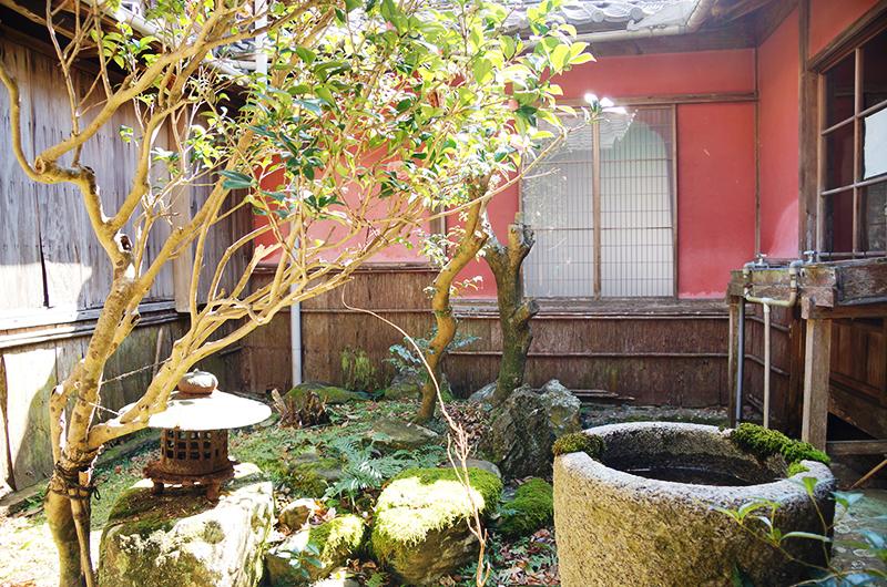 太江寺の和室6畳横 中庭